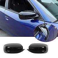 Dodge Charger ダッジ ダッヂ チャージャ 2010+ 専用サイドバックミラー/リアビューミラーカバー/リアミラー装飾/エクステリアミラー装飾/バックミラー装飾/サイドバックミラーフレーム 装着簡単 カー用品 ダッジパーツ アクセサリー おしゃれ ABS ブラック