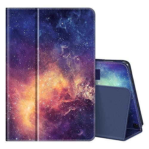 Fintie Hülle kompatibel mit den neumodischen Amazon Fire HD 10 / Fire HD 10 Plus (nur für Tablets der 11. Generation, 2021) - Folio Kunstleder Schutzhülle mit Auto Wake/Sleep Ständerfunktion, die Galaxie