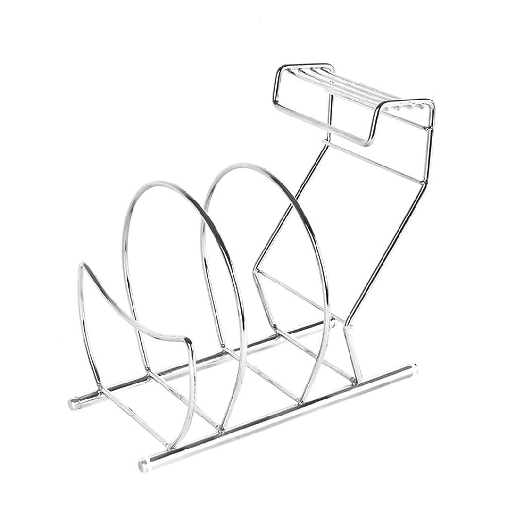 段階延ばすアンデス山脈YGC24 棚キッチンストレージ多機能ウォールホルダーストレージシェルフバスケット食器棚主催ステンレス鋼のナイフラックツールホルダーポットスタンドラック YGC24 (Color : Stainless steel)