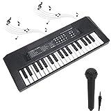 tastiera elettronica portatile tastiera a 37 tasti con microfono con funzione di registrazione tastiera elettrica multifunzione per principianti kid adult tastiera per bambini