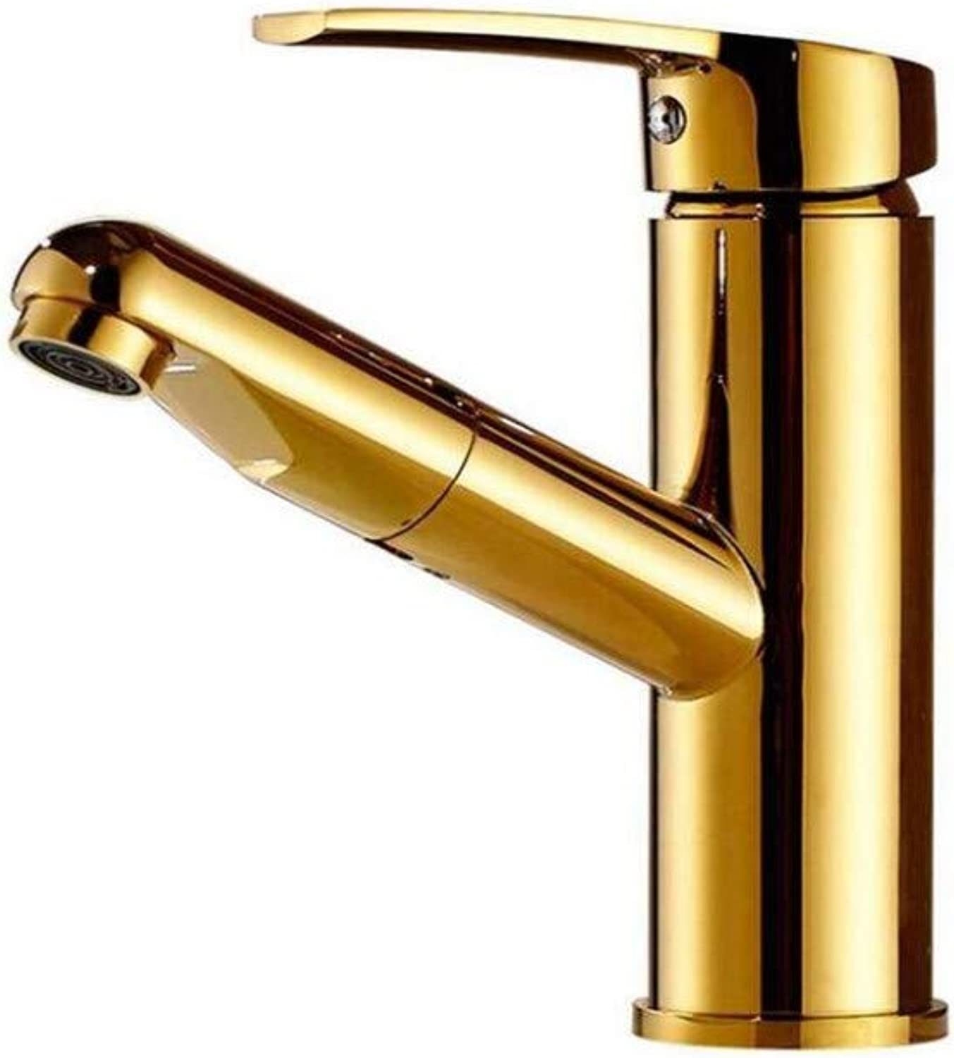 Taps Kitchen Sinkchrome Hot and Cold Water Copper gold Plated Faucet Wash Basin Faucet Cold Water Cold Water.
