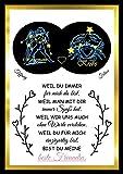 Sternzeichen Poster Wunschnamen Besten Freundin | Sternen