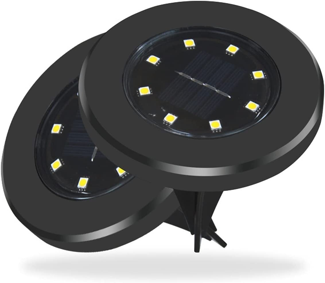 ZHM safety Don't miss the campaign 4 Pack Outdoor Solar Ground Garden 8 Lights LED