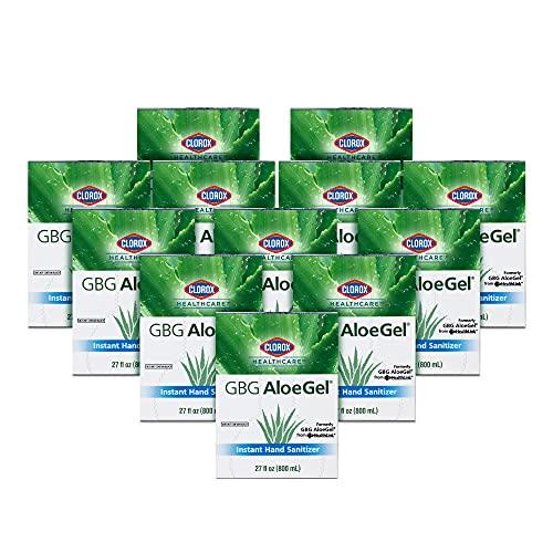 Clorox Healthcare GBG AloeGel Hand Sanitizer Gel Refill Bag in Box, 27 oz (798 ml)   Clorox Hand Sanitizer Gel   Beach Free Instant Hand Sanitizer Gel Refill (12 Pack)