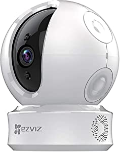 EZVIZ C6C 720p Indoor Pan/Tilt WiFi Security Camera 360° Full Room Coverage Auto Motion Tracking Two-Way Audio Clear Night Vision up to 30ft 2.4GHz WiFi