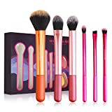 Makeup Brush Set, 6 pcs Makeup Brushes with 2 Beauty Blender, Eyeshadow Brushes Shader Blending,...