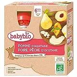 Babybio Gourde Pomme Poire Pêche du Roussillon/Occitanie 6+ Mois 360 g