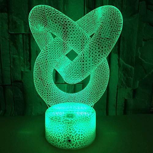 3D Led Nachtlicht Bunte Berührung Valentinstag Geschenk Stereo Vision Vorschlag