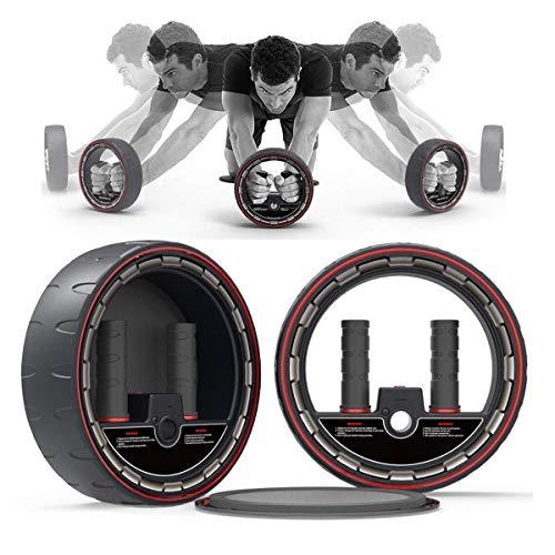 ADLIN Klimmzugstangen, Multifunktions-Mute Bauch-Übung Ab Roller Rad Body Fitness Krafttraining Maschine