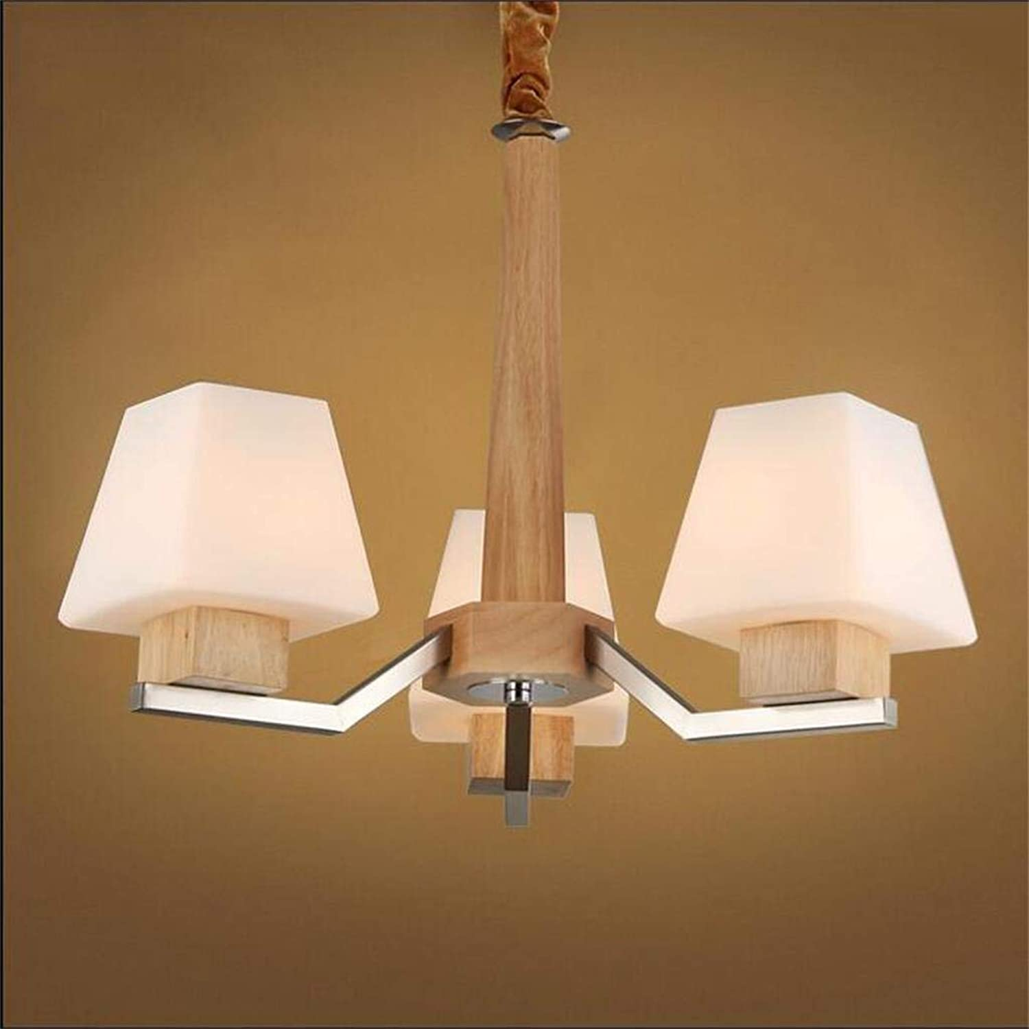 WHKHY Nordic Professional Simple Wood & Chandeliers with 3 5 Lights Living Room Bedrooms, Hotels Indoor Style  (5)