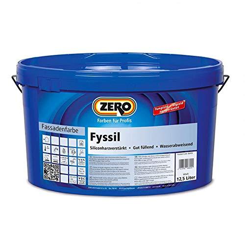 ZERO Fyssil Siliconharzverstärkt Siliconharz Fassadenfarbe weiß fungizid und algizid 12,5 l