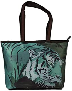 Animal Vegan Zipper Shoulder Bag Tote Bag