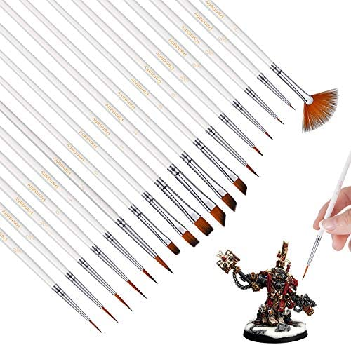 Small Enamel Paint Brushes Set 18 Pieces Detail Painting Kit for Artists Model Minature Acrylic product image