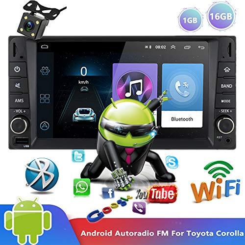PolarLander Android 9.0 Bluetooth AutoRadio 7' Reproductor Multimedia Auto Radio Reproductor de Video estéreo WiFi Navegación GPS MP5 MirrorLink FM para To/yota Corolla con cámara de visión Trasera