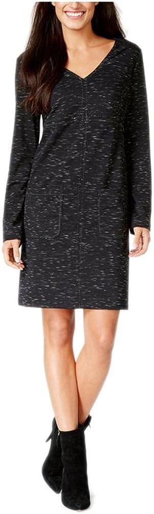 Studio M Womens Space Dye Long Sleeves Wear to Work Dress