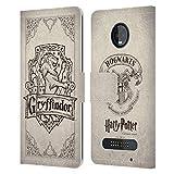 Head Case Designs Officiel Harry Potter Gryffindor Parchemin Sorcerer's Stone I Coque en Cuir à...