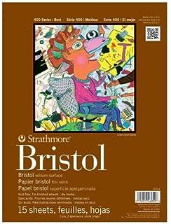"Strathmore 400 Series Bristol, 2-Ply Vellum, 11""x14"" Tape Bound, 15 Sheets"