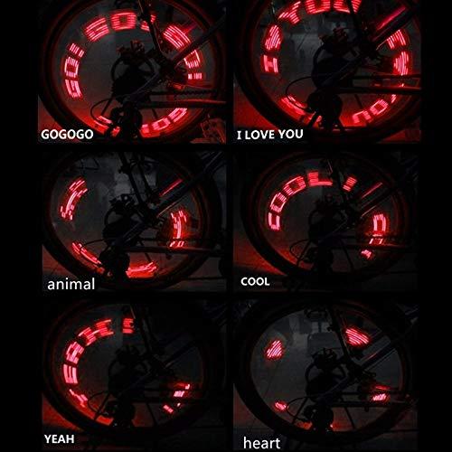 HNXCBH Rueda de la Bici habló la válvula del neumático del Ciclo de luz de la lámpara LED de la Rueda del neumático 7 Flash LED con luz Super Brillante LED de Bicicletas Carta Luces Bicicletas