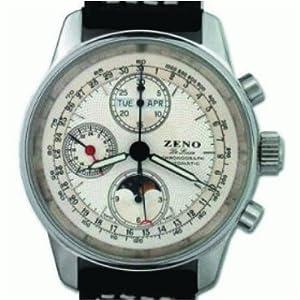 Zeno Pilot Classic Tri-Compax Moonphase Chronograph Ref. 6665 BVDD-L image