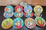 Piatti Vietri Ceramica vietrese Linea pescioni 6 Piatti Piani e 6 Piatti Fondi