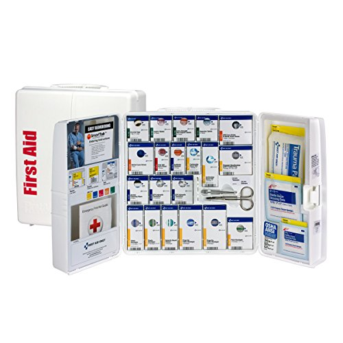 First Aid Only 50 Person Large Plastic SmartCompliance First Aid Cabinet with Medications , OSHA (1000-FAE-0103)