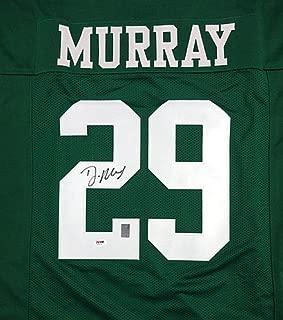 Philadelphia Eagles DeMarco Murray Signed Green Jersey - PSA/DNA Certified