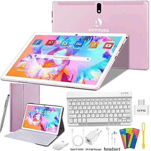 Tablet 10 Pulgadas 4G/WiFi Android 9.0 Pie Ultrar-Rápido Tablets 4GB RAM +...