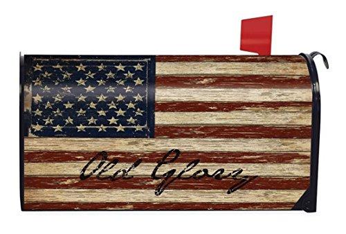 Oude glorie patriottische magnetische brievenbus Cover Amerikaanse vlag rustieke Briarwood Lane