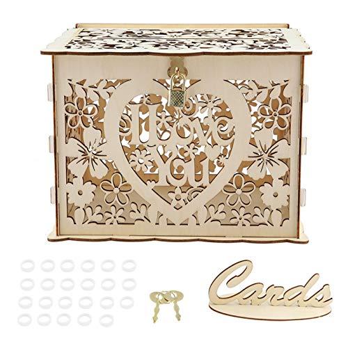 Caja de tarjetas de boda con llaves Caja de regalo de dinero de bricolaje para fiesta de cumpleaños, Caja de tarjetas de boda Caja de tarjetas con llaves Caja de tarjetas de bricolaje Caja de regalo z