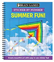Brain Games - Sticker by Number: Summer Fun! (Square Stickers): Create Beautiful Art with Easy to Use Sticker Fun!
