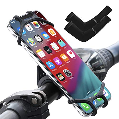 Bike Phone Holder For Bike, Motorcycle Mountain Bike Phone Mount, Silicon Bicycle Motorbike Phone Holder, Universal Handlebar Compatible With iPhone Samsung Huawei 4'-6.5' Cell Phone, Bike Accessories