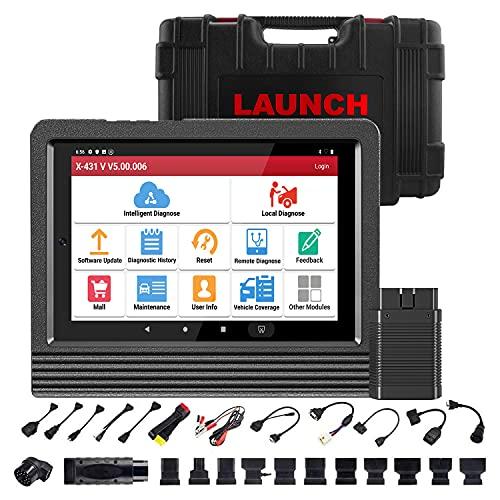 LAUNCH X431 V 4.0 2021 OBD2 valise diagnostic auto, bidirectionnel, Code ECU, Test d'activation, 31 + service de réinitialisation, codage de clé, TPMS, ABS, codage d'injecteur, EPB, BMS, SAS, DPF