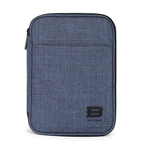 bagsmart Elektronik Tasche, Doppelte Schichte Elektronische Tasche Reise für iPad Mini, Kabel, Ladegerät,Adapter, Powerbank, USB-Sticks, SD Karten, Blau