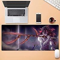 ゲーミングマウスマット、悪魔のスレイヤーかっこの八木区黒の背景、アニメの表面摩耗保護パーソナライズ耐久性のある大規模なオフィスのマウスパッド (Color : 800mm*300mm, Size : 5mm)