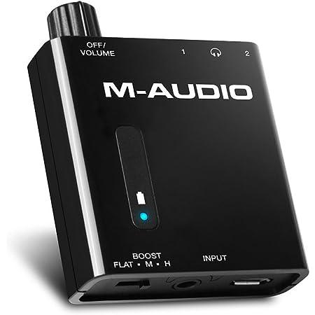 M-Audio 小型ポータブル・ヘッドフォンアンプ 2出力 2段階ブースト Bass Traveler