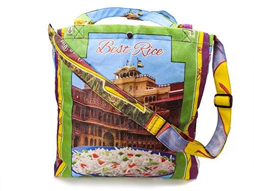 Fair Trade Einkaufstasche aus Reissäcken - upcycling Tasche