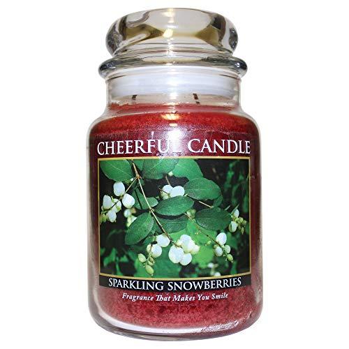 A Cheerful Giver A Sparkling Snowberries Vrolijke geurkaars in glas, 680 ml, meerkleurig