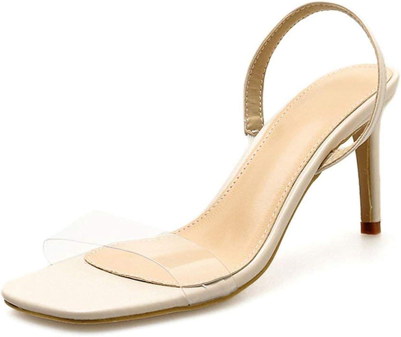 Women Pumps PVC Cryal Transparent Clear Toe Slip-On High Heels