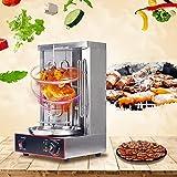 InLoveArts Machine à kebab électrique, Machine verticale électrique de gril de gril de gril de gril avec le commutateur de réglage de température, acier inoxydable 2 brûleurs 50-300 ° C