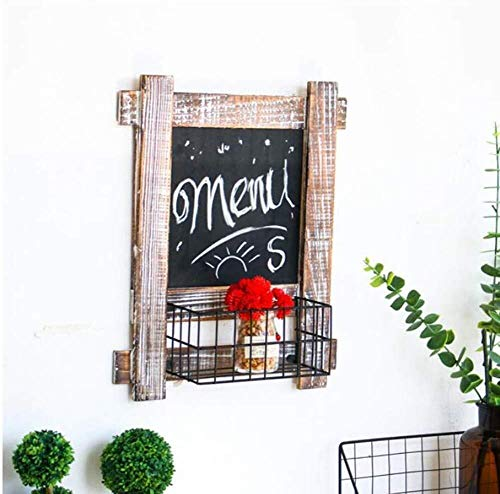 Mr.T Message Board Chalkboards multifunctionele retro doen de oude massief hout ijzer opslag mand restaurant buiten/binnen, 2 maten message board