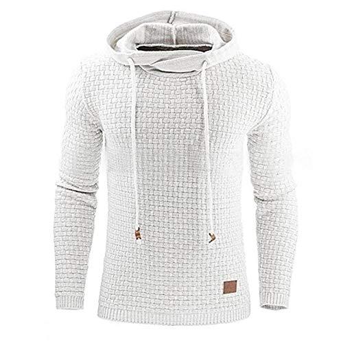 Herren-Kapuzenpullover mit Kordelzug Mode Plus Size Solid Color Casual Workout Laufen Streetwear Regular Pullover L