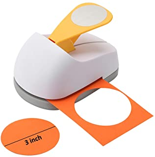 Craft Lever Punch 3 inch Circle Punch DIY Handmade Paper Punch(3 inch White Circle)