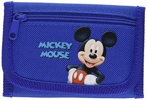 New Disney Mickey Mouse Tri-fold Wallet Gift for Holiday, Birthday - Blue by Disney