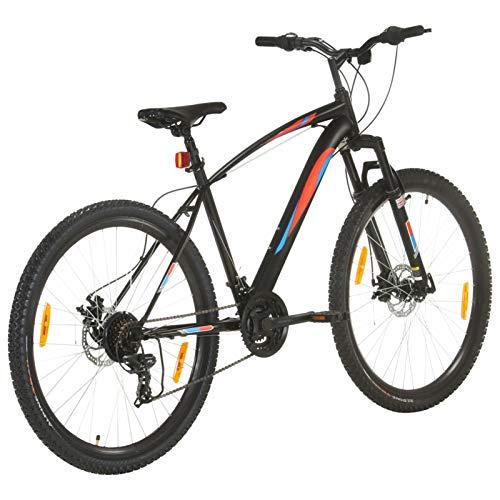 Festnight Mountainbike Aluminium Jugendmountainbike Jugendfahrrad Sportfahrrad Bergsteiger Fahrrad Herren Fahrrad,Scheibenbremsen,21 Gang Mountainbike 29 Zoll Rad 48 cm Rahmen Schwarz Fahrrad
