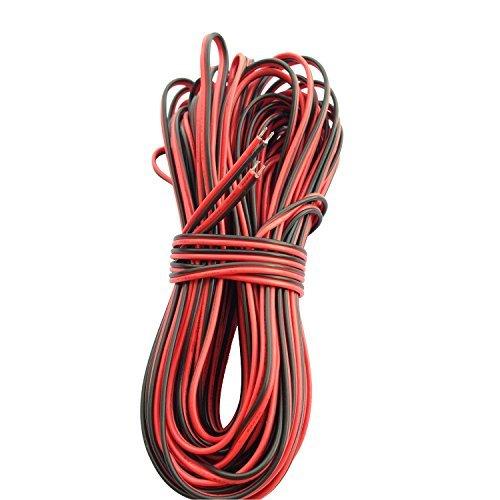 LitaElek 20m 2 Pin LED Streifen Verlängerungskabel LED Strip Anschlusskabel LED Verbinder für SMD 3528 2835 5050 5630 einfarbige LED Streifen und andere DC 12V LED Beleuchtung