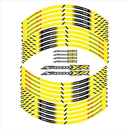 Mrjg Pegatinas de Llantas Pegatina de neumáticos de la Motocicleta Decoración de decoración Reflectante del Borde Interior para S1000XR (Color : 02)
