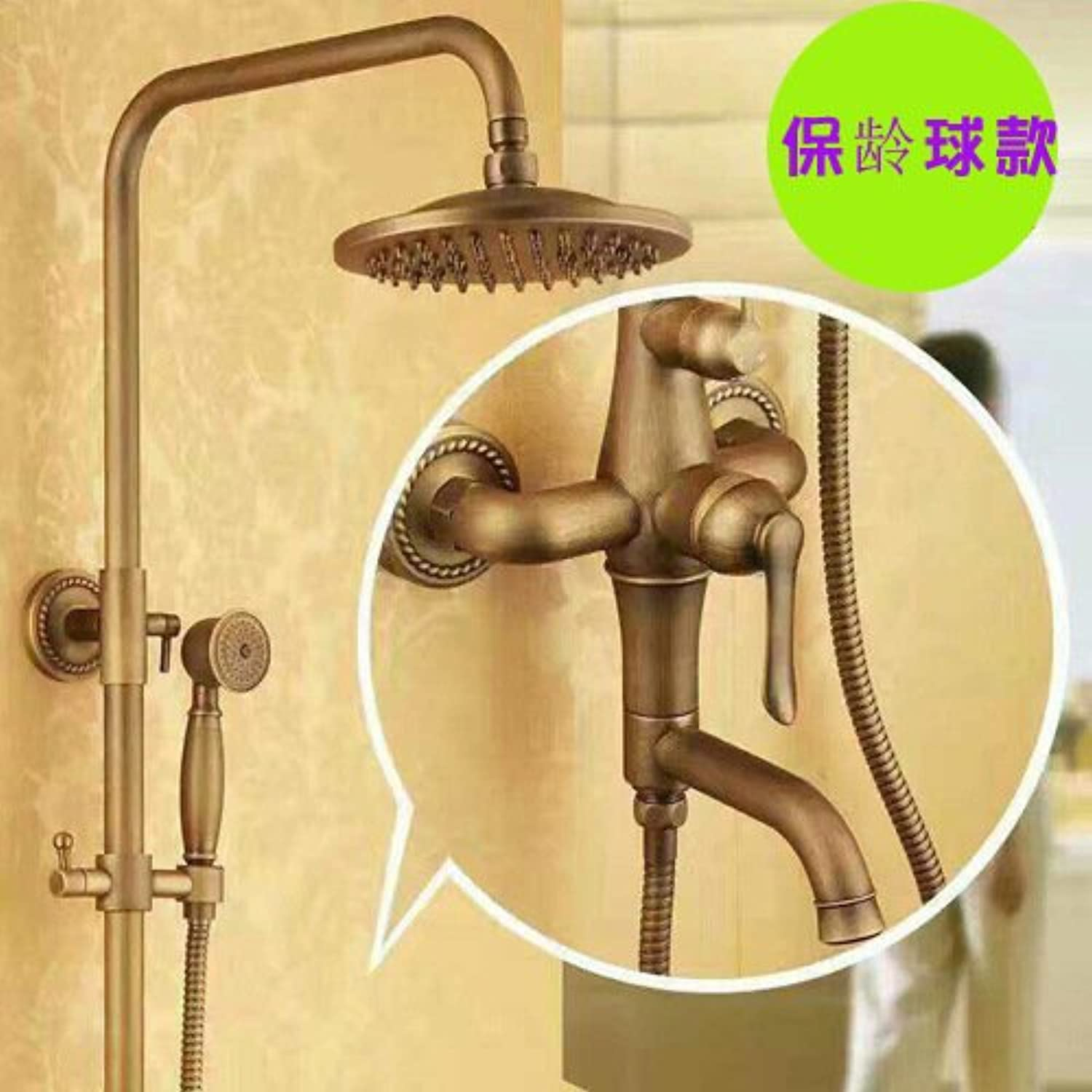 Hlluya Professional Sink Mixer Tap Kitchen Faucet Shower antique faucets shower kit full copper cold water full copper faucet, bowling,
