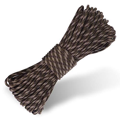 HellDoler Paracord 550 Seil für Armband,Campingzelt,Outdoor Survival Seil,Nylon-Seil 30 Meter (Army Green Camo)