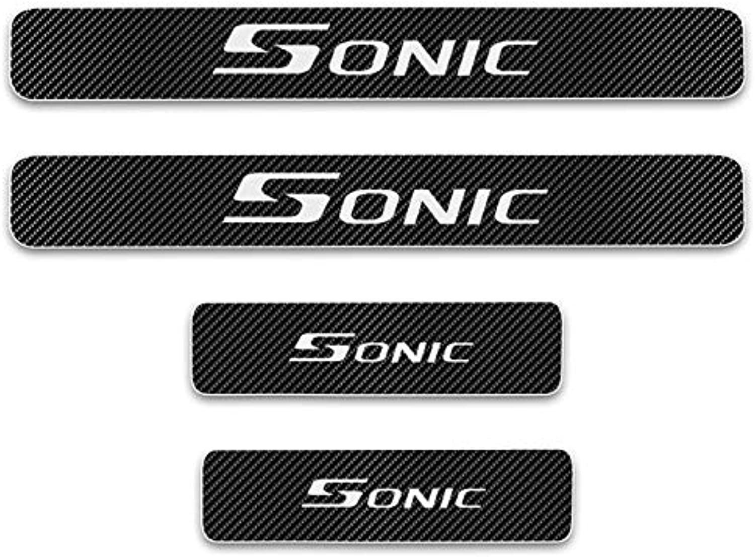 For Chevrolet Sonic Door Threshold Plate Door Entry Guard Car Door Sills Door Sill Scuff Plate CarStyling Accessories 4Pcs  (color Name  White)