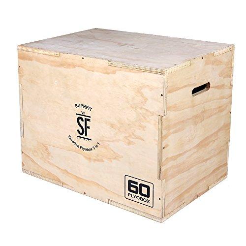 Suprfit Baltrun Plyo Box - Sprungbox für plyometrisches Training und Sprungkrafttraining, Jump Box mit diversen Sprunghöhen: 50, 60 oder 70 cm, Material: Multiplex-Holz, Farbe: Braun